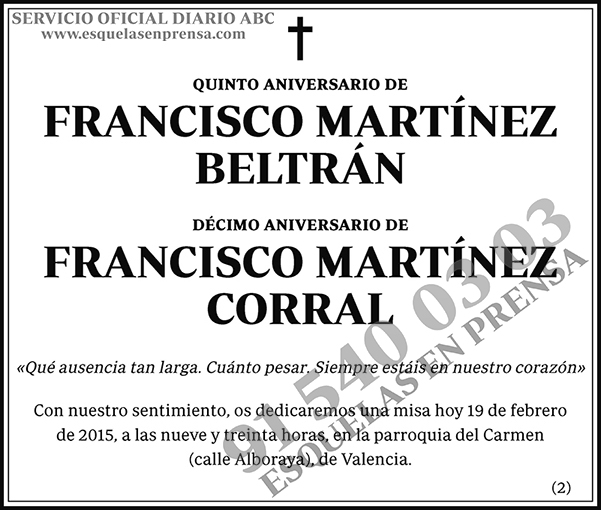 Francisco Martínez Beltrán